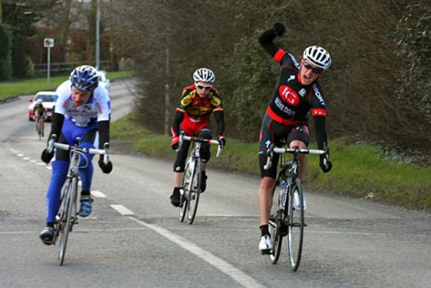 Peter Hawkins winning Cycleways Cup 2012