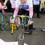 "Navan Road Club members in the Slane "" Pink Roller Cycle "" even"