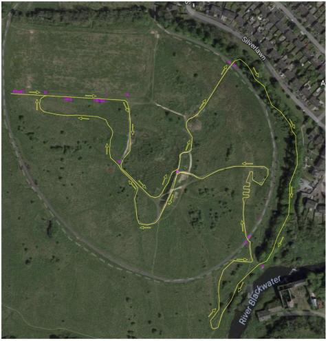 Blackwater Park CX Course Map